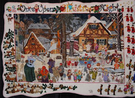 Once Upon a Christmas Night by  Sieglinde Schoen Smith, posted at Quilting the Town Red