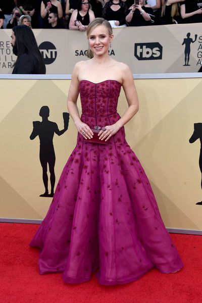 Host Kristen Bell attends the 24th Annual Screen ActorsGuild Awards.