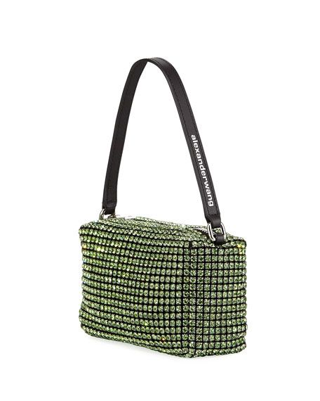 Alexander Wang Crystal Mesh Top-Handle Bag