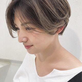 2019年春版 ショート ミルクティー アッシュ 最新髪型 アレンジの