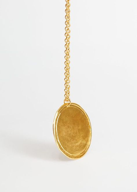 Mango Metallic Medal Necklace
