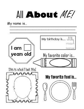 FREE download - All About Me Ice-Breaker Worksheet ...