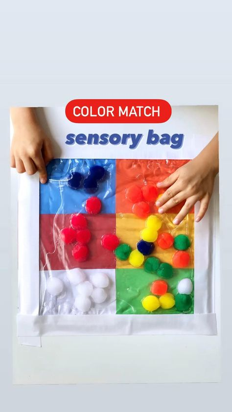 Color matching sensory bag for toddlers