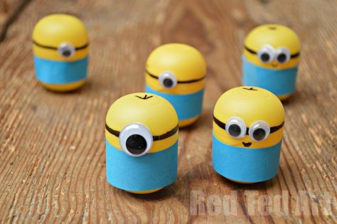 Minion Crafts Weebles Made From Kindersurprise Egg Capsules