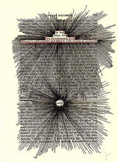 """TOM PHILLIPS """"A Humument"""" - A Treated Victorian Novel (inner page)"""