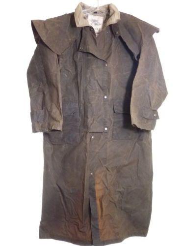 Sydney Oilskin Clothing Co Australian Outback Cowboy Duster Coat L Clothing Co Oilskin Cowboy Duster