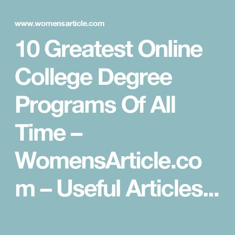 2099 best college degree online images on Pinterest Online - first class degree