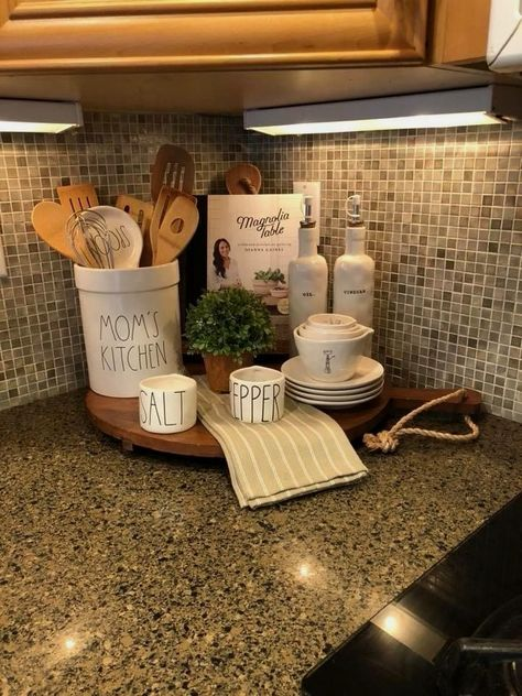 115 Counter Decorating Ideas In 2021 Kitchen Decor New Home Kitchens