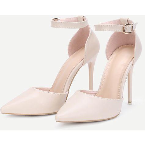 SheIn(sheinside) Pointed Toe Ankle Strap Stiletto Heels ($31