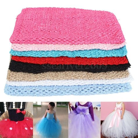 "9//12/"" Stretch Crochet Tube Top Headband Hairband Waistband Tutu Supplies"
