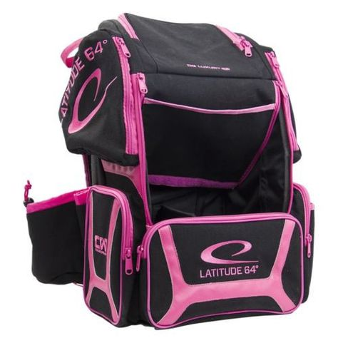 Latitude 64 Luxury E3 Backpack Black/Pink Disc Golf Bag Holds 20+ Discs