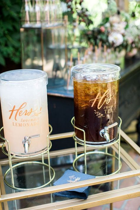 non-alcoholic wedding drink station ideas