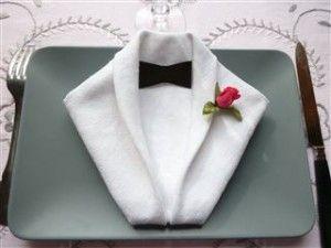 Pliage serviette smoking