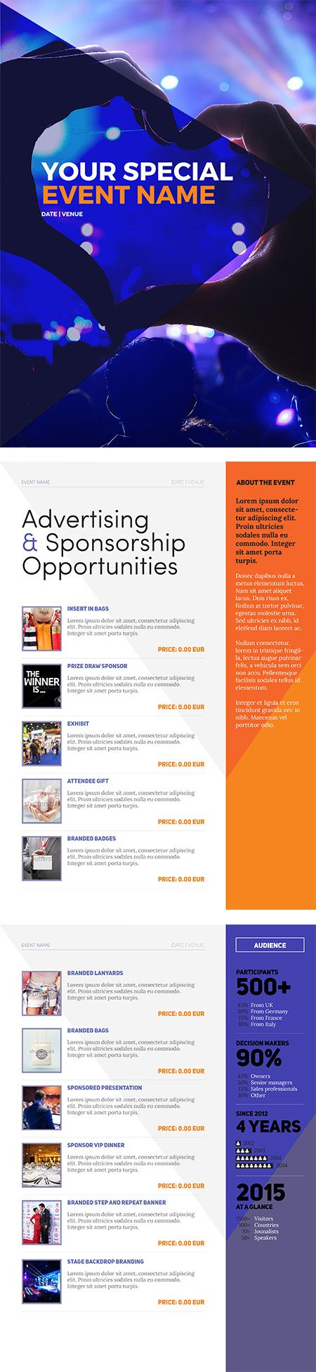 Sponsorship Package Template Event Sponsorship Sponsorship Package Nonprofit Events Non profit sponsorship package template