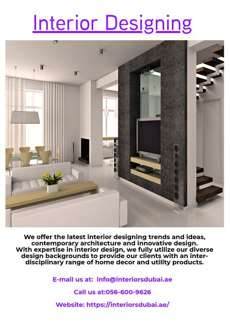 We Offer The Latest Interior Designing Trends And Ideas