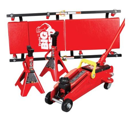 Cheap Torin Big Red Hydraulic Trolley Floor Jack Combo With 2 Jack Stands And Rolling Creeper 2 Ton Capacity Flooring Miter Saw Reviews Lawn Equipment