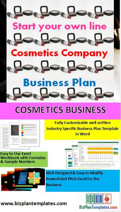 Full Business Plan And Startup Package For A Cosmetics Company Start Your Own Line Of Cosmetics S Business Planning Cosmetic Companies Business Plan Template