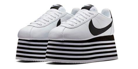 The COMME des GARÇONS x Nike Cortez Platform Sneaker Is a Sky High Necessity