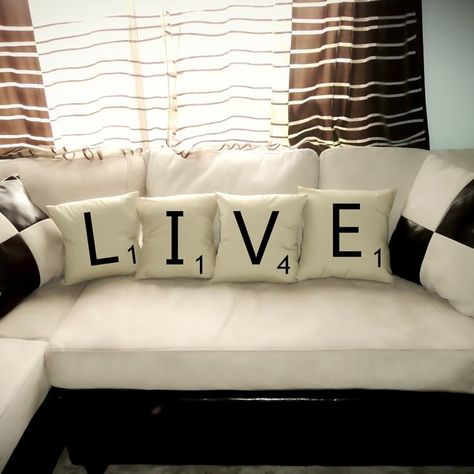Live Scrabble Tile Pillows