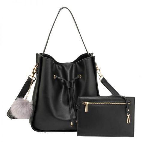 AG00591M – Black Drawstring Tote Bag With Pouch 1   backpacks  ladiesbags   setbags  fashion 3a6b1c21cda1c