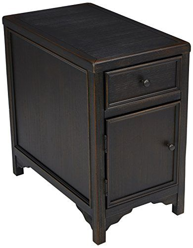 Signature Design By Ashley Gavelston Chairside End Table Rubbed