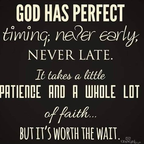 Life Quotes & Inspiration : God has perfect timing…God is good! So glad we always held on and never gav… The Words, Religious Quotes, Spiritual Quotes, Quotes About God, Quotes To Live By, Great Quotes, Inspirational Quotes, God Is Good Quotes, Hope Quotes Never Give Up