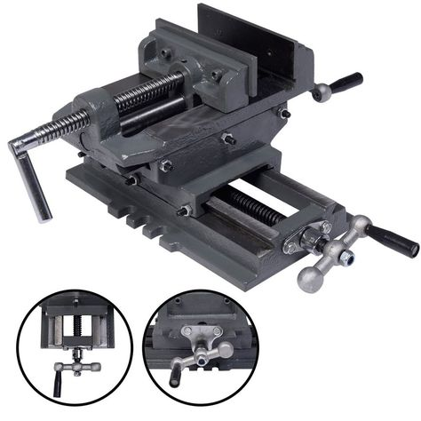 2 Way 3/'/' Drill Press X-Y Compound Vise Cross Over Slide Mill Drill Press Table