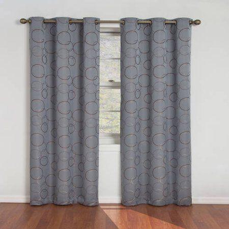 Eclipse Zodiac Energy Efficient Blackout Curtain Panel Walmart