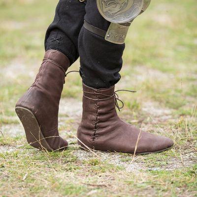 Chaussures hautes médiévales fantastiques domaine (avec