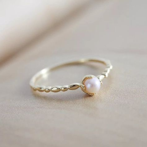Pearl Promise Rings, Matching Promise Rings, Promise Rings For Couples, Rings For Men, Pearl Rings, Pearl Engagement Rings, Seed Pearl Ring, Silver Pearl Ring, Promise Ring Band