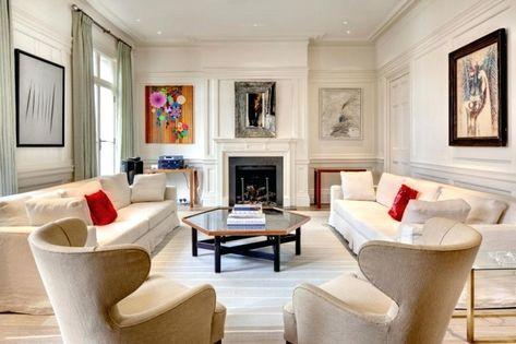 Zwei Sofas Im Wohnzimmer #wohnzimmereinrichten #sessel #kleineswohnzimmer  #kombinieren #teppich #einrichtungsideen #deko #ideen #fernseher
