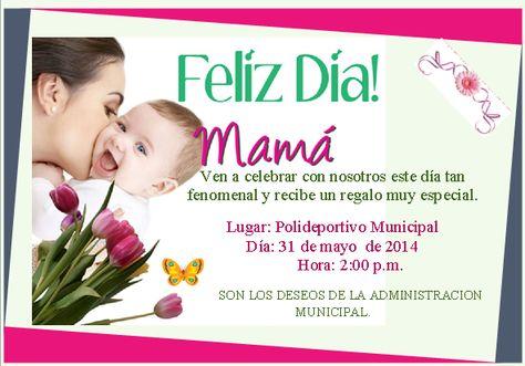 Tarjeta De Invitación Para El Dia De La Madre Imagui