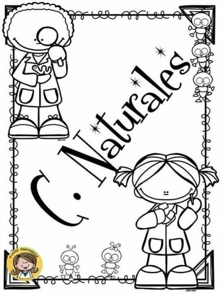 Dibujos Para Colorear Para Portadas Caratulas De Ciencias Naturales Caratulas De Ciencias Portada De Cuaderno De Ciencias