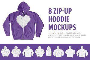 Download 8 Premium Zip Up Hoodie Mockups Psd Mockup Free Mockups Psd Hoodie Mockup Zip Ups Hoodies