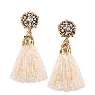 Ladies Women Boho Bohemian Long Tassel Drop Hoop Fashion Statement Earrings