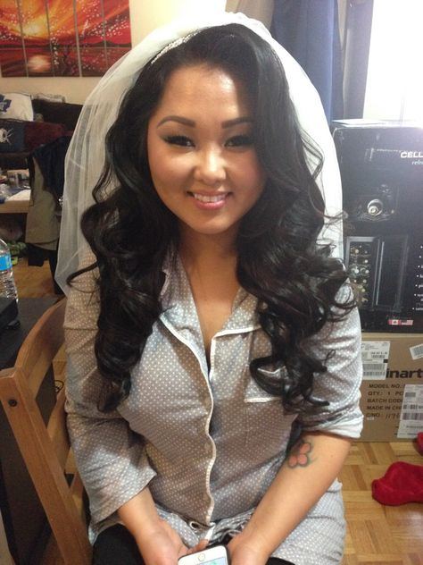 Bridal hair - down with veil