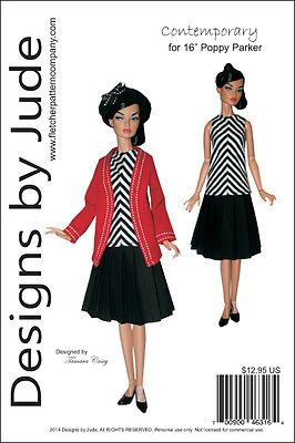 """Splendor Doll Clothes Sewing Pattern for 16/"""" Poppy /& Tulabelle Integrity"""