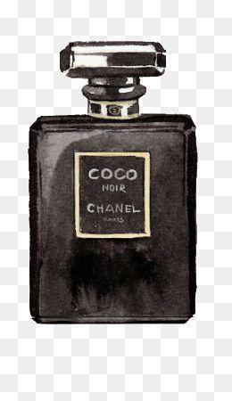 Hand Painted Chanel Perfume Bottle Bottle Clipart Hand Painted Perfume Bottle Png Image And Clipart