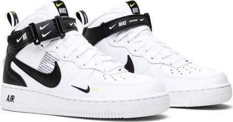 Nike Air Force 1 Mid (GS) Młodzieżowe Białe (314195 113