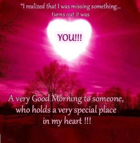 Very good morning who holds special place in my heart