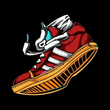 Download Illustration Of Sneakers In Color Sport Shoes Sneaker Shoe Footwear Png And Vector With Transparent Background For Free Download Color Sport Shoes Silhouette Vector Cute Logo