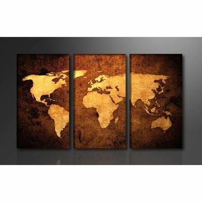 Tableau Moderne Imprime 160x90 Cm Carte Monde En 2020 Carte Du