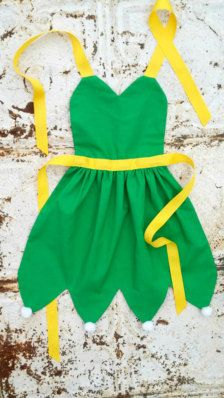 disney princess apron patterns | TINKERBELL Sewing PATTERN. Disney inspired Child Costume Apron. Dress ...