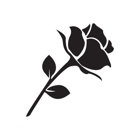 123rf Millions Of Creative Stock Photos Vectors Videos And Music Files For Your Inspiration And Projects Rose Drawing Simple Black Rose Floral Drawing