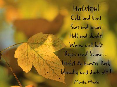 Herbst kurz gedicht Kurze Herbstgedichte