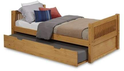 Camaflexi Twin Size Platform Bed With Twin Trundle Mission