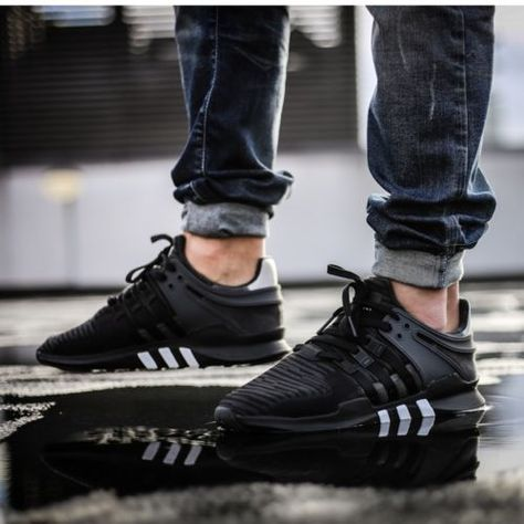 ADIDAS EQUIPMENT EQT SUPPORT ADV BLACK SHOES Size 7 8 9 10