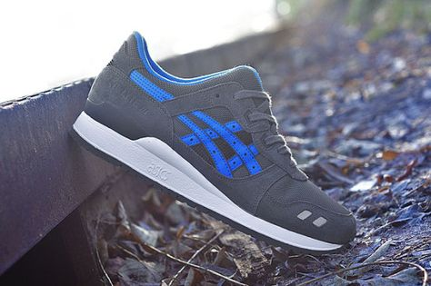 low priced 470d8 546bb Asics Gel Lyte 3 - Dark Grey / Blue | KicksOnFire.com ...
