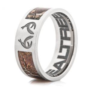 Realtree Camo and Antler logo ring
