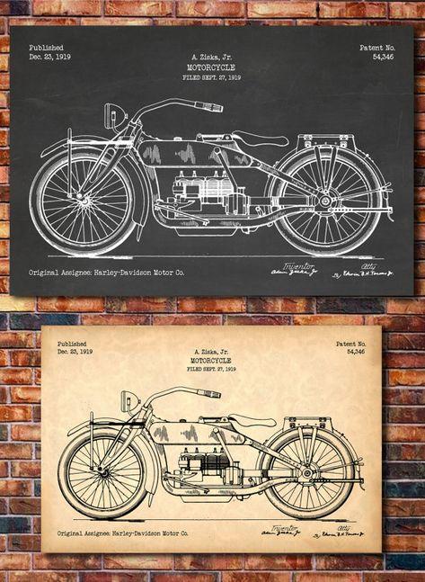 Harley Davidson Patent Print 3